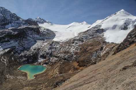 Belle lagune turquoise au pied du Cerro Don Luis - Bolivie -