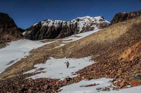 A l'approche du col au-dessus de Mina Santa Rosa - Bolivie -