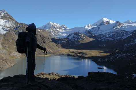 Vue depuis le mirador du Chaupi Orco - Bolivie -
