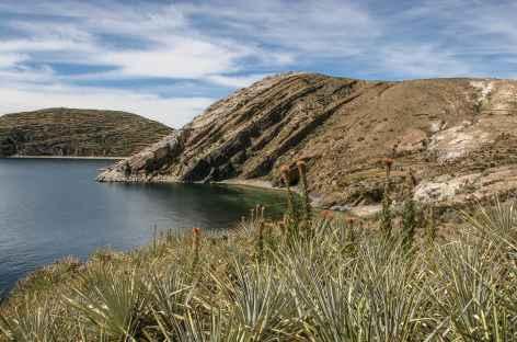 La baie de Challapampa sur l'île du Soleil - Bolivie -