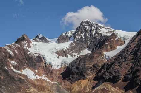 Un beau sommet depuis le col Humajalanta - Bolivie -