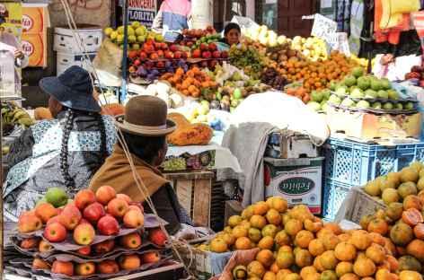 Sur les marchés de La Paz - Bolivie -