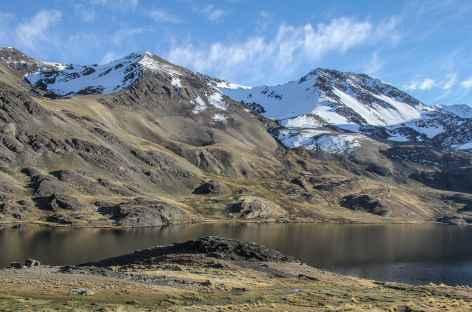 Arrivée sur les bords de la lagune Cololo - Bolivie -