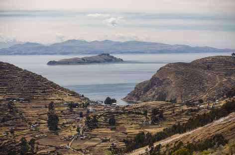 Paysage sur l'île du Soleil - Bolivie -