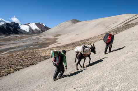 Dernier col avant la lagune Choja Quta - Bolivie -