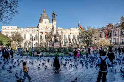 La Paz, la place Murillo - Bolivie -