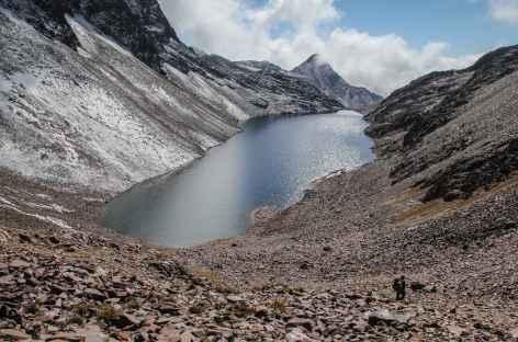 Descente depuis le col Mina Santa Rosa - Bolivie -