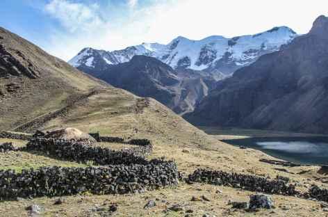 Arrivée à la lagune Chuchuja - Bolivie -