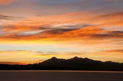 Coucher de soleil sur la Cordillère Royale depuis Yumani - Bolivie -