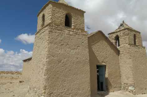 Bolivie, Copacabana et sa vieille église abandonnée dans la Cordillère Sama -