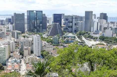 Rio, vue sur le centre-ville depuis Santa Teresa - Brésil -