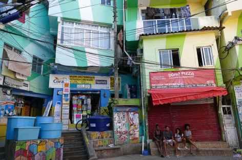 Rio, favela Santa Marta - Brésil -