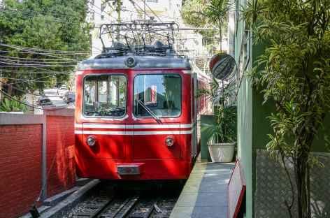 Rio, tramway pour le Corcovado - Brésil -