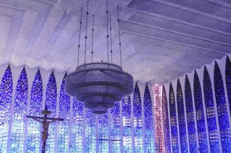 Brasilia, l'intérieur de l'église Don Bosco - Brésil -