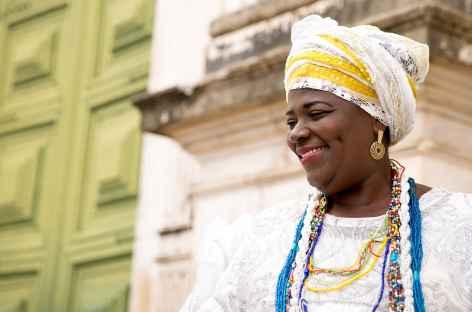 Salvador de Bahia, sourire d'une bahianaise - Brésil -