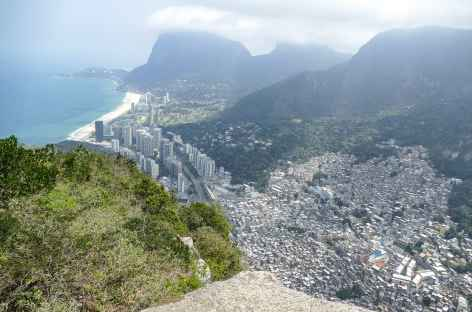 Morro dos Irmaos, vue sur Sao Conrado - Brésil -