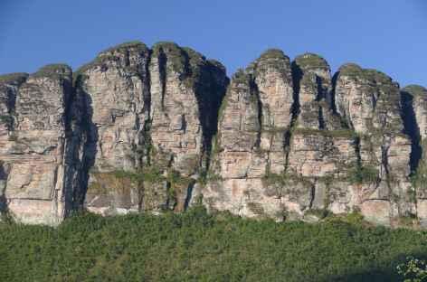 Zoom sur les falaises de la Chapada Diamantina - Brésil -