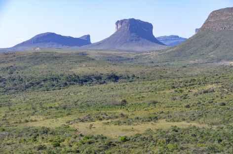 Panorama sur les morros de la Chapada Diamantina - Brésil -