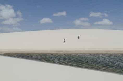 Dunes et lagunes dans le parc national Lencois Maranhenses - Brésil -