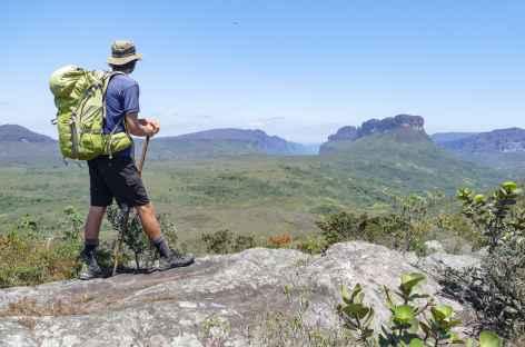 Panorama depuis le plateau du rio Preto dans la Chapada Diamantina - Brésil -