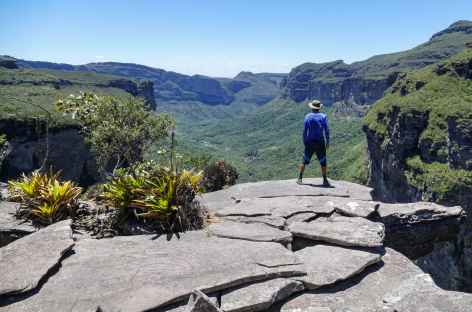 Au bord d'un canyon dans la Chapada Diamantina - Brésil -