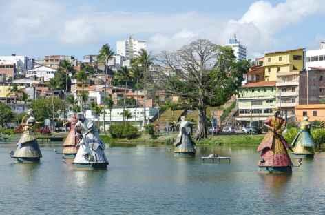 Salvador de Bahia, le lac des orixas au dique du Tororo - Brésil -
