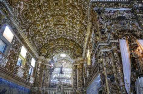Salvador de Bahia, richesse intérieure d'une église baroque - Brésil -