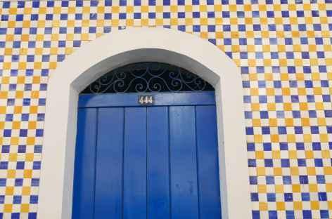 Facade d'azulejos à Sao Luis - Brésil -