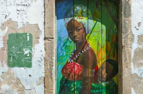 Salvador de Bahia, peinture murale - Brésil -
