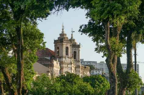 Salvador de Bahia, jolie vue depuis la ville basse - Brésil -