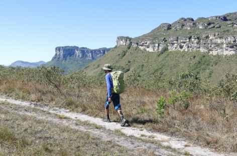 Sur les plateaux couverts de savane rase dans la Chapada Diamantina - Brésil -