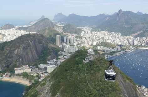 Vue depuis le sommet du Pain de Sucre - Brésil -