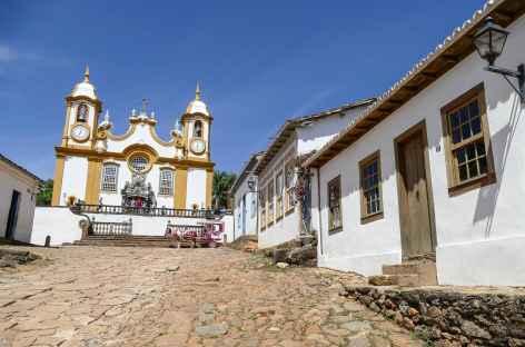 Tiradentes, l'église matrice de Santo Antônio - Brésil -