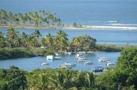 Vue sur le port de l'île Boipeba - Brésil -