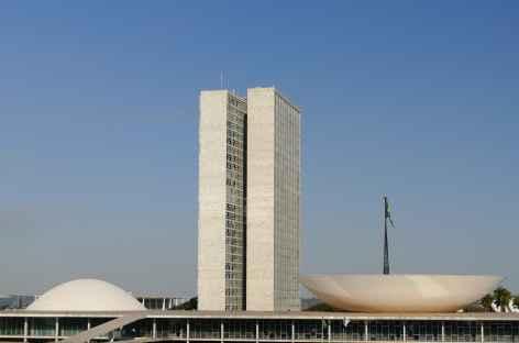 Brasilia, le Congrès national - Brésil -