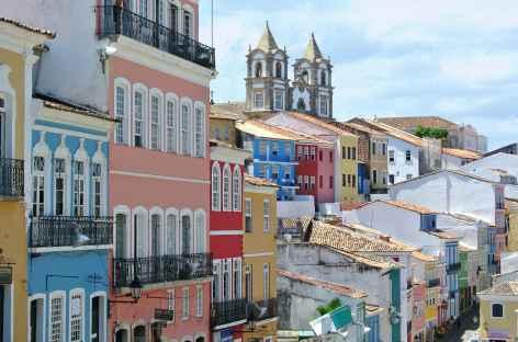 Le quartier du Pelourinho à Bahia - Brésil -