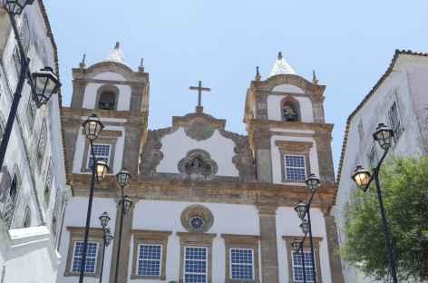Salvador de Bahia, église dans le quartier du Pelourhino - Brésil -