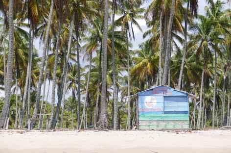 Bar de plage sur l'île Boipeba - Brésil -