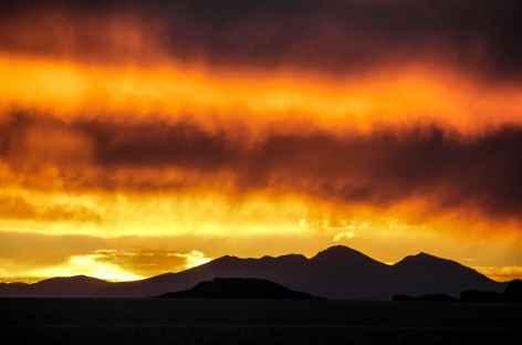 Coucher de soleil sur l'altiplano - Chili -