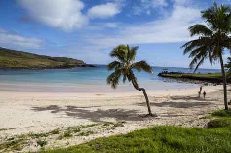 Ile de Pâques, la plage d'Anakena - Chili -