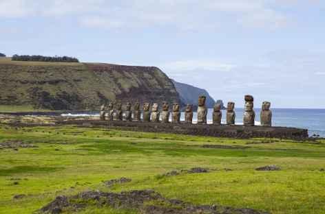 Ile de Pâques, site d'Ahu Tongariki - Chili -