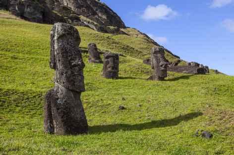 Ile de Pâques, carrière Rano Raraku - Chili -