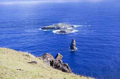 Ile de Pâques, motu Nui depuis Orongo - Chili -