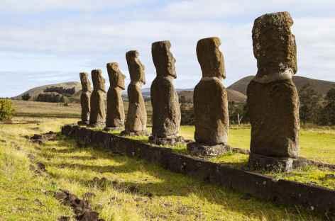 Ile de Pâques, site de Ahu Akivi - Chili - Chili -