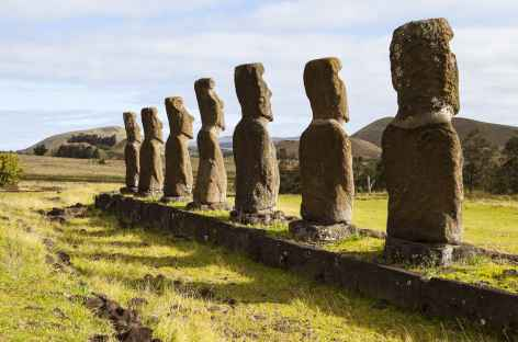 Ile de Pâques, site de Ahu Akivi - Chili  -