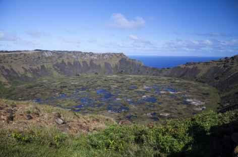 Ile de Pâques, caldeira du Rano Kau - Chili -