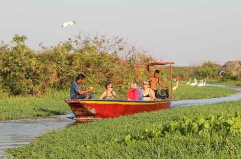 Balade en bateau dans la cienegua de Pinijo - Colombie -