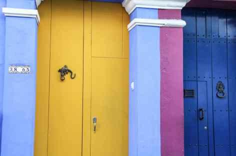 Façade colorée à Carthagène - Colombie -