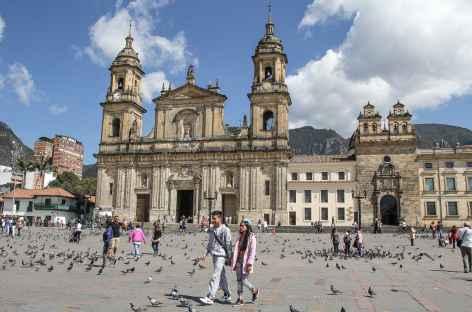 Bogota, la place Bolivar - Colombie -