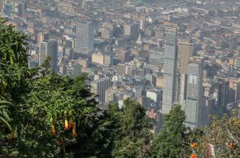 Vue sur Bogota depuis la colline de Montserrate - Colombie -